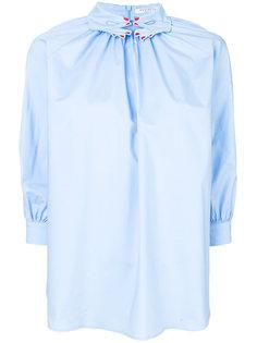 блузка с декорированным воротником Vivetta