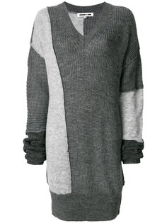 трикотажный свитер в стиле пэчворк  McQ Alexander McQueen