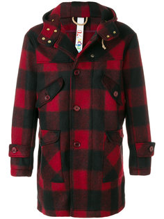пальто в клетку с капюшоном Equipe 70