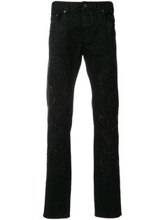 джинсы с рваной отделкой Diesel Black Gold