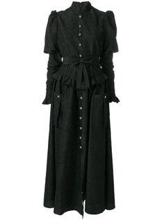 длинное платье  клоке Alessandra Rich