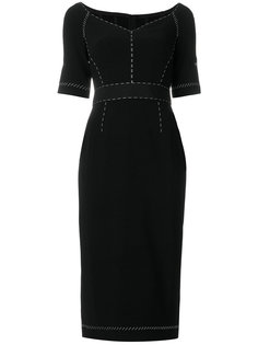 платье с декоративной строчкой  Dolce & Gabbana