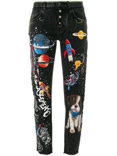 джинсы бойфренда с принтом  Dolce & Gabbana
