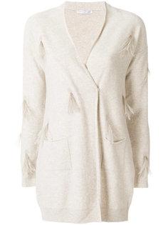 пуловер с отделкой и V-образным вырезом  Fabiana Filippi