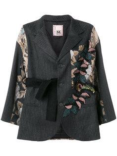 пиджак в стиле оверсайз с парчовыми вставками Antonio Marras