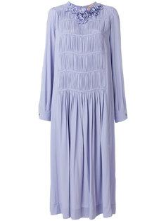 платье миди с фактурным воротником  Nº21