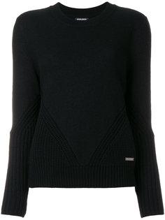 свитер с отделкой в рубчик  Woolrich