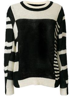 свитер с полосатыми панелями  Henrik Vibskov
