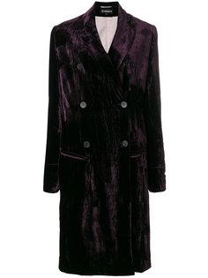 двубортное свободное пальто Ann Demeulemeester