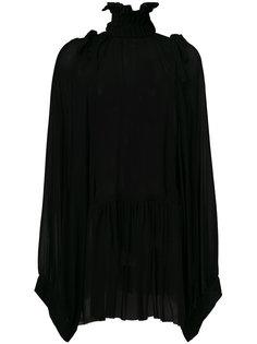 блузка с высокой горловиной  Ann Demeulemeester