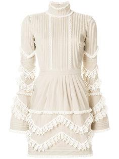 кружевное плиссированное платье Dsquared2