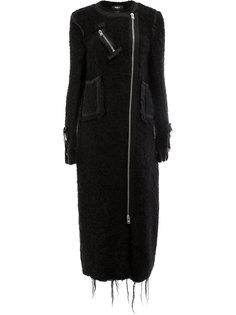 асимметричное пальто с бахромой  Yang Li