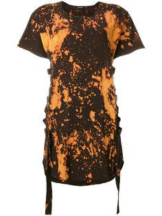 футболка с бретельками и принтом огня  Balmain