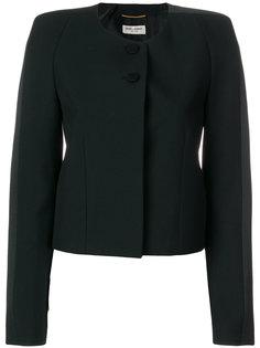 приталенный пиджак без воротника  Saint Laurent