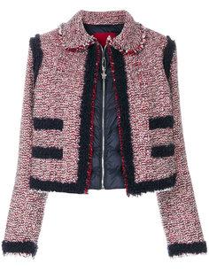 укороченный пиджак на пуховой подкладке Moncler Gamme Rouge