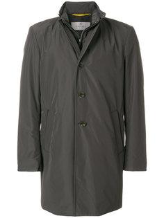 стеганое пальто с многослойной горловиной Canali