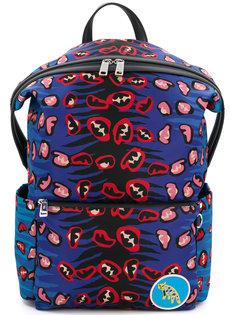 рюкзак с леопардовым принтом Fendi
