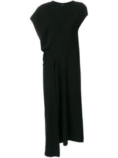 асимметричное платье с драпировкой Nero Ivan Grundahl