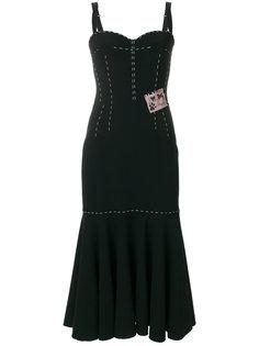 платье миди с декоративной строчкой  Dolce & Gabbana
