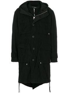 двубортное пальто-бомбер  Cy Choi