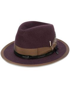 фетровая шляпа с элементом карты Borsalino