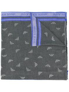 шарф с принтом-логотипом Armani Jeans
