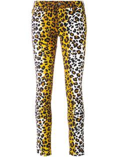 джинсы скинни с леопардовым узором Love Moschino