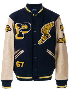 университетская куртка-бомбер Polo Ralph Lauren