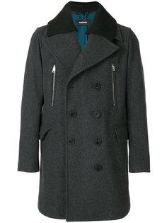 двубортное пальто Diesel