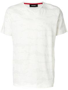 классическая футболка с камуфляжным принтом Diesel