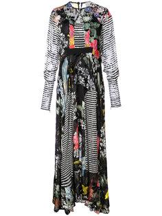 printed flared maxi dress Preen By Thornton Bregazzi