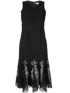 платье с вышивкой Jonathan Simkhai