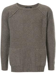 фактурный свитер с круглым вырезом Maison Flaneur