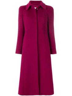 однобортное пальто на пуговицах Red Valentino