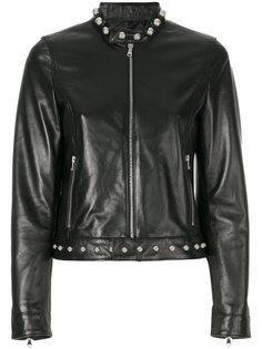куртка на молнии с заклепками  Red Valentino