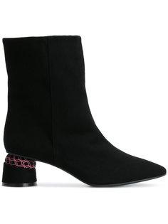 ботинки на контрастном каблуке Marc Ellis