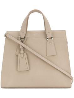 сумка-тоут с висячим ярлыком Giorgio Armani