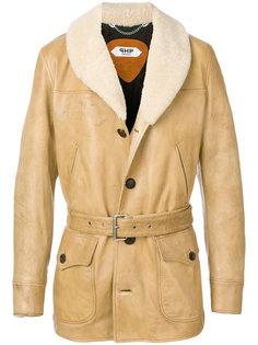 куртка с меховым воротником и поясом Pihakapi
