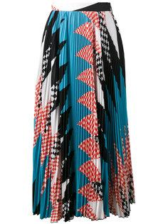 плиссированная юбка с геометрическим принтом MSGM