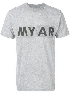 футболка с принтом-логотипом Myar