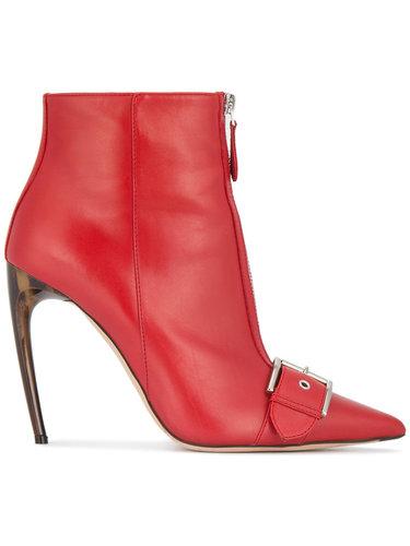 ботинки с пряжками на каблуке Alexander McQueen