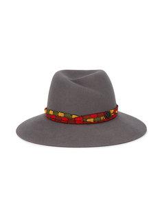 шляпа-федора с плетеной лентой Maison Michel
