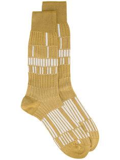 бежевые носки с узором Basket Lunch Ayamé