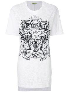 футболка с логотипом-тигром  Versace Jeans