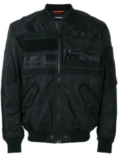 куртка-бомбер с логотипом Diesel