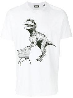 футболка с принтом T-Rex  Diesel