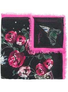 шарф с цветочным принтом Roberto Cavalli