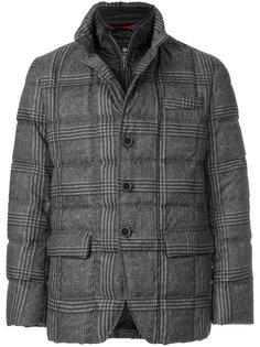 клетчатая стеганая куртка Fay