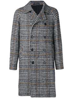 двубортное пальто в клетку Tagliatore