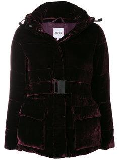 бархатная куртка с поясом  Aspesi